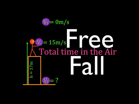 Physics, Kinematics, Free Fall (11 of 12) Total Time In the Air