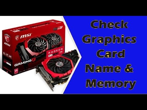 How to Check Graphics Card Video Memory In Windows 7 | Pc | Laptop