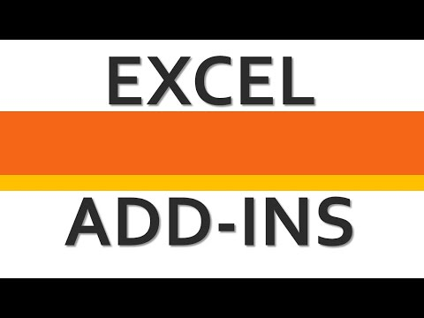 How to enable Excel Add-ins