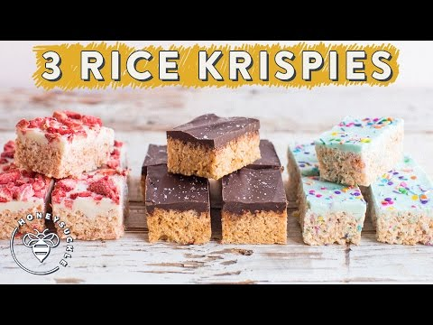 3 RICE KRISPIES TREATS with Chocolate Layers for #BuzyBeez