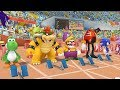 Mario and Sonic at the London 2012 Olympic Games - 100m Sprint (All Characters)