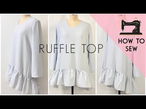 DIY Easy Ruffled Top / Ruffle Dress / How to Sew
