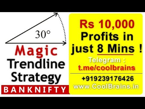30 Degree Magic Trendline Strategy gives Rs 10,000 Profits in 8 Mins