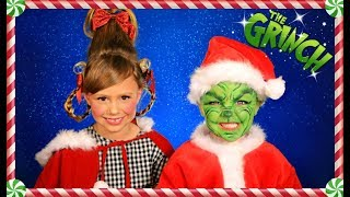 The Grinch and Cindy Lou Who Christmas Makeup, Hair, and Costumes
