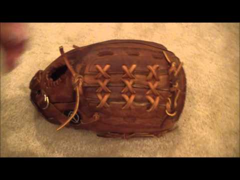 Nike 11.5 inch Baseball Glove - Before and After Glove Relace