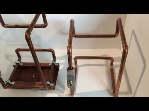 Homemade Ham Radio Full Wave Antenna For 2 Meter And 70cm Make From 1/2 Inch Copper