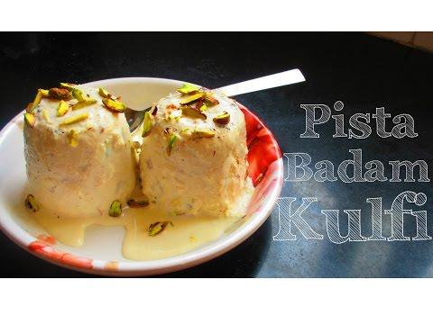Pista Badam Kulfi | Without Condensed Milk - पिस्ता बादाम कुल्फी बिना कंडेंस्ड मिल्क के बनाये