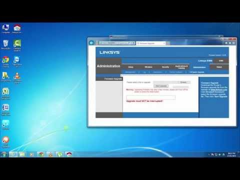 How to Update Firmware of Cisco linksys WiFi Router - Tutorial