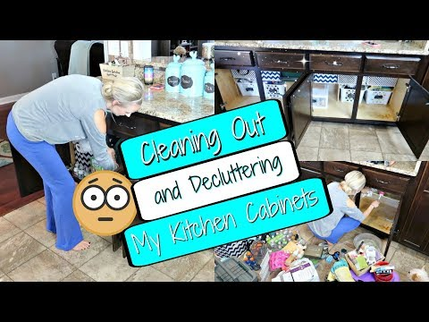 Organizing and Decluttering My Kitchen Cabinets/Dollar Tree Organization Ideas/Organizing Your Home