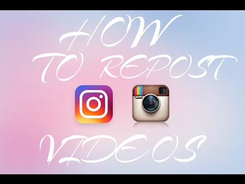 How To Repost Videos On Instagram!
