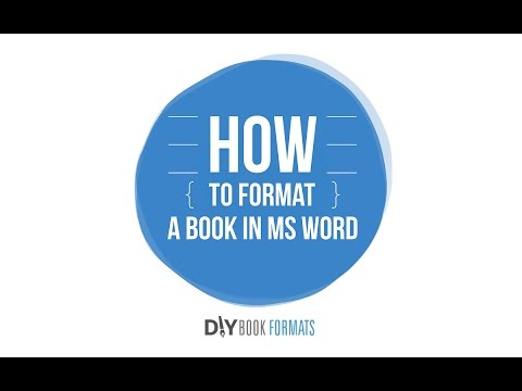 How to format a book in Microsoft Word (2018)