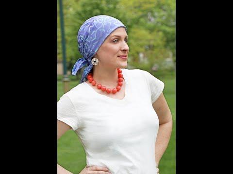 How to Tie a Square Chemo Head Scarf Bali Batik Rayon