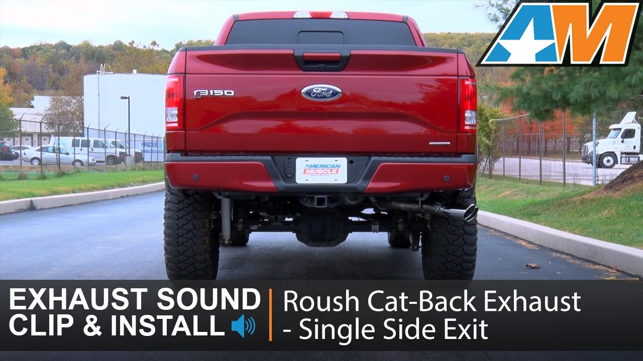 2015-2016 F-150 Roush Cat-Back Exhaust - Single Side Exit (5.0L) Sound Clip & Install