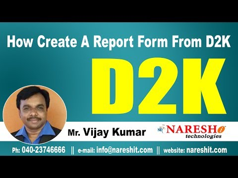 How Create A Report Form From D2K? | D2K Forms and Reports Tutorial | Mr. Vijay Kumar