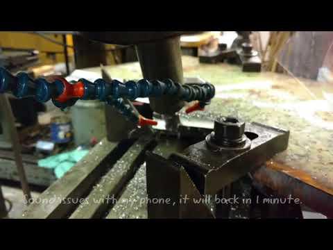 Log Splitter Homemade 45 Ton - Step 10 Milling the Blade
