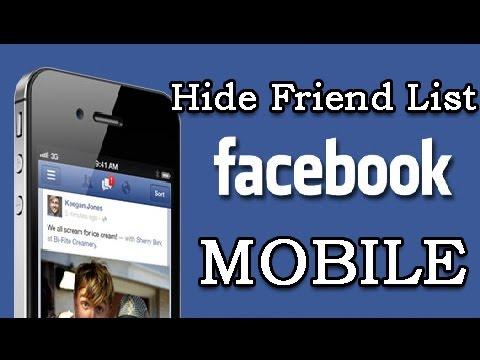 Hide Friend List on Facebook on Mobile 2018