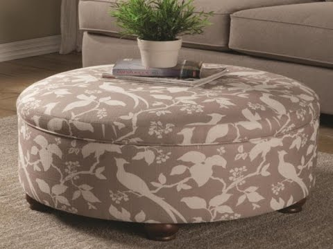 Fantastic Round Ottoman With Storage
