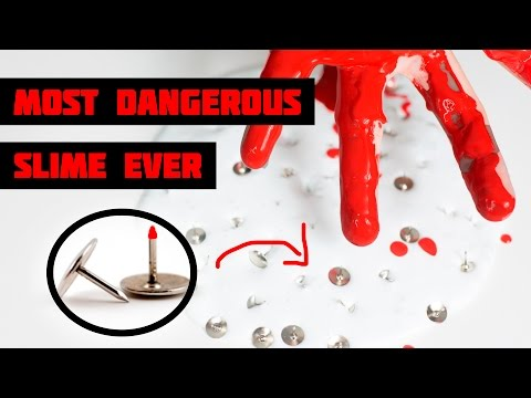 MOST DANGEROUS SLIME EVER! BLOOD WARNING!!! Slimeatory with charlie.