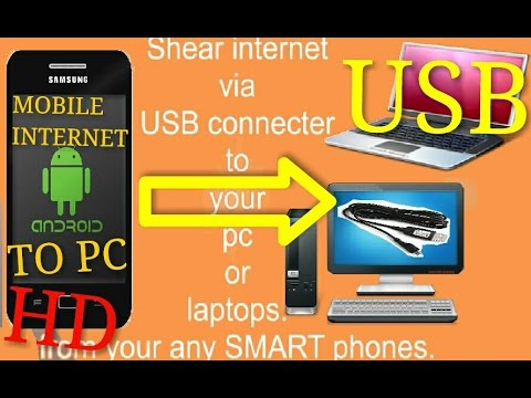 How to Share internet via USB cable to your pc or laptops using any Smart-Phone ( 100% working )
