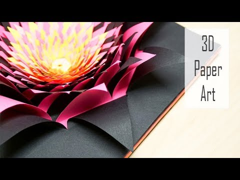 3D Papercraft Art Tutorial | How to Make a Colourful Paper Flower | DIY Project