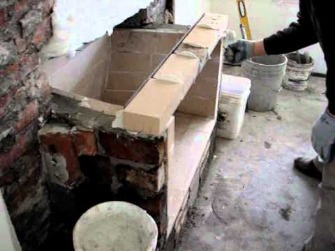 fire brick and angle piece installation (part two)