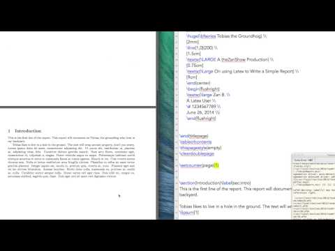 Latex Tutorial 3 of 11: Table of Contents and Front Matter