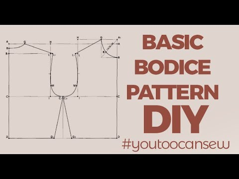 How to draft a Basic Bodice Pattern