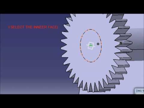 RACK AND PINION IN CATIA V5 (DMU KINEMATICS)