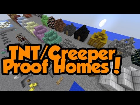 HOW TO MAKE A TNT PROOF HOUSE | 100% Creeper Proof