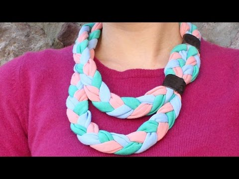 Create a Braided Fabric Statement Necklace - DIY Style - Guidecentral