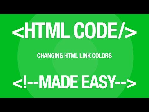 Web Design Tutorial Changing HTML Link Color