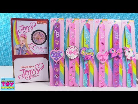 Jojo Siwa Fashion Tags Slap Band Bracelets Bow Bow Full Box Opening Toy Review | PSToyReviews