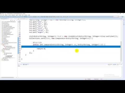 Sorting the HashMap in Java