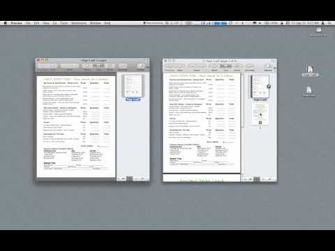 Combine PDF's using Preview in Snow Leopard