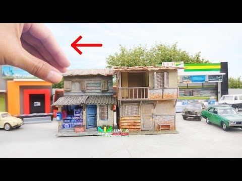 Cantik & Unik Miniatur Rumah & Warung Kumuh utk Diorama Diecast