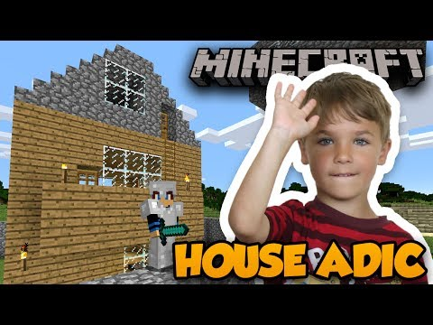 I FINISHED MY HOUSE WITH SECRET ADIC in MINECRAFT SURVIVAL MODE