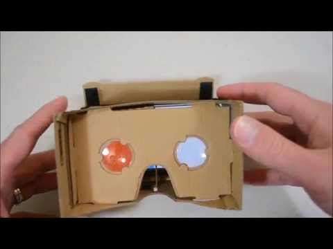 Google Cardboard Virtual Reality 3D Glasses; Unboxing & Assembly
