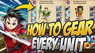 This Is How You Gear EVERY UNIT In Grand Cross! Seven Deadly Sins Grand Cross