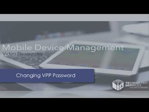 Changing Your VPP Password