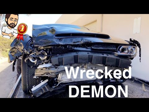 1st WRECKED/CRASHED DODGE DEMON! It's Totaled!