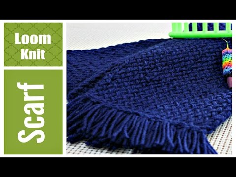 LOOM KNIT SCARF for Beginners. Step by Step VERY Detailed Info for Round and Long Looms | Loomahat