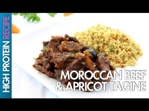 High Protein Recipes: How To Make Moroccan Beef & Apricot Tagine