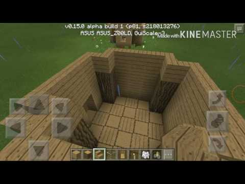 Minecraft PE - How to build a quick wooden house .