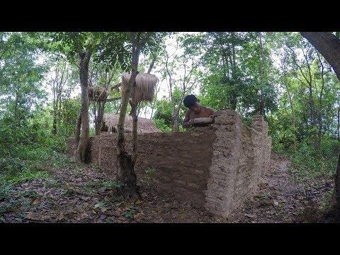 Primitive Technology, Mud huts, Upgrade wall of Mud huts - ep 8