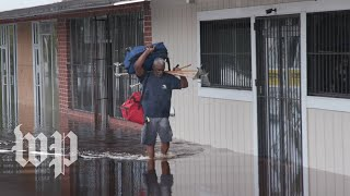 After days of flooding and power outages, North Carolinians look for help