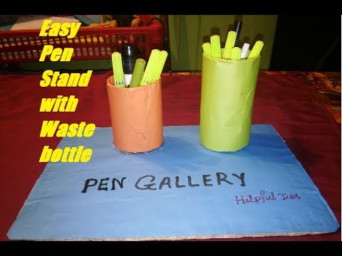 Easy Pen Stand with Waste bottle and Toilet paper roll | How to make | Helpful Tips
