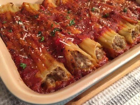 Meat Manicotti Recipe - Delicious Stuffed Pasta - Episode #69