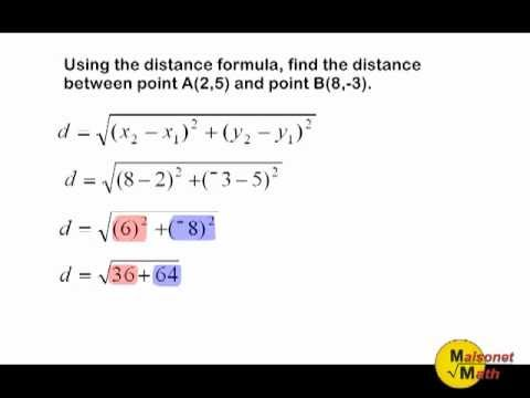 Using The Distance Formula Or Pythagorean Theorem To Find The Distance Between Two Points