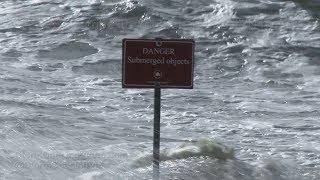 Rockaway, NY Powerful Gales & Beach Erosion - 10/24/2017