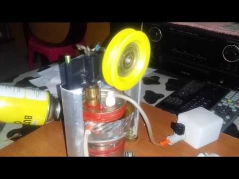 Homemade stirling/hot air engine